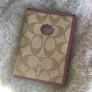 Coach signature passport holder